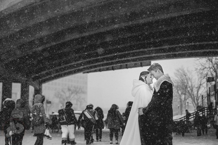you can't pick the weather for your wedding day - so when it ends up as the wors...