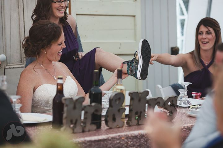 when the maid of honor's shoe game is on point.  tip of the hat to Tara's sister...