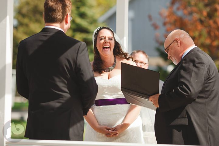 everyone should laugh this much on your wedding day ..while you get dressed, dur...