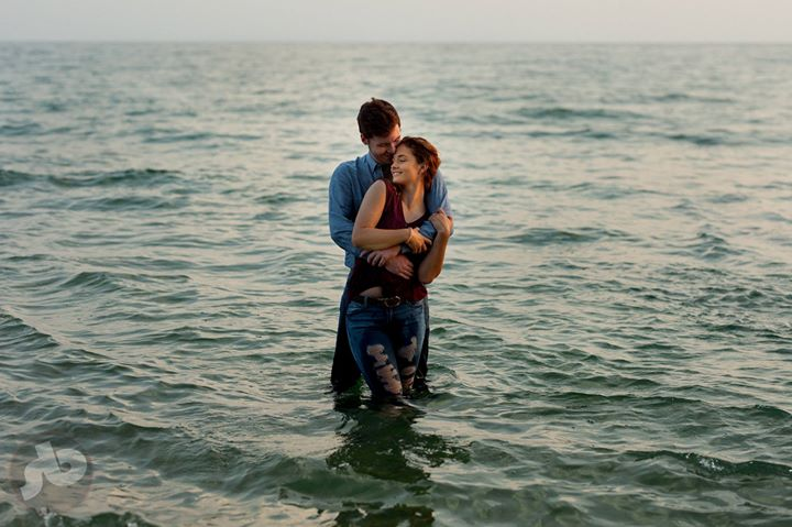 snuggles for Sarah and Isaac in (what I'm told was) a chilly Lake Ontario last n...
