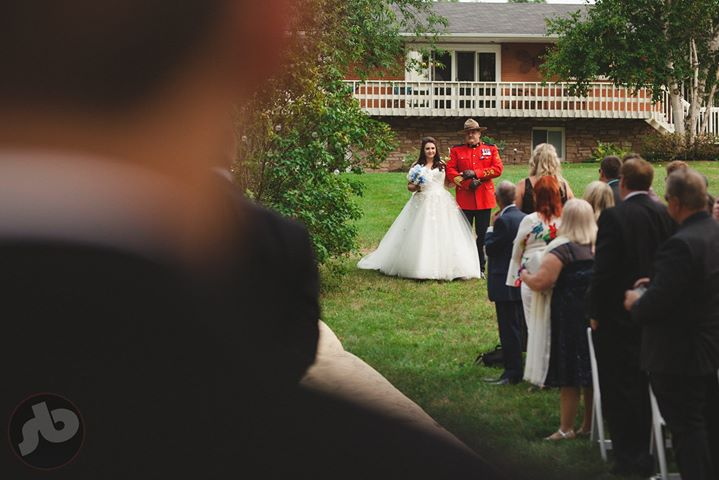 When your dad's an RCMP officer you ensure he's wearing his dress uniform to wal...